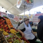 Novosibirsk Marktfrau 08.09.2011 von Heidi Eden