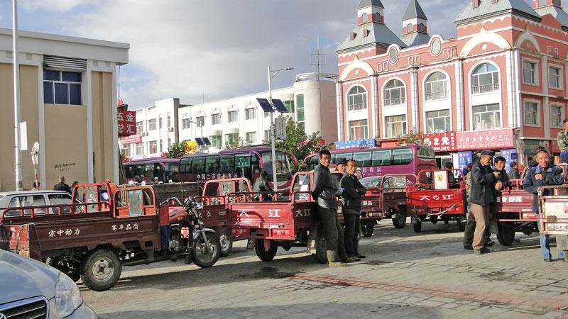 Transsibirische Eisenbahn: China - Erlian, Dreirad-Transporter