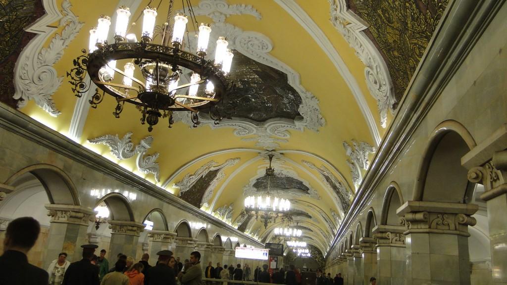 Eden-Borkum.de - Decke in der Moskauer Metro