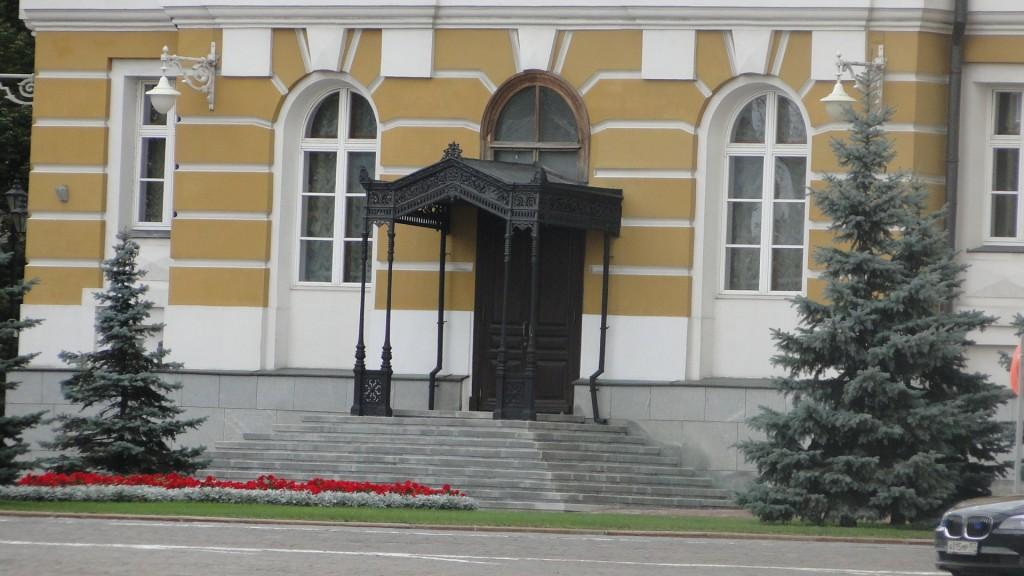 Staatsbesucher werden auf dieser Treppe begrüßt.