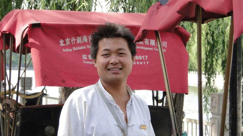 Transsibirische Eisenbahn: Peking - Rikschafahrer in den Hutongs
