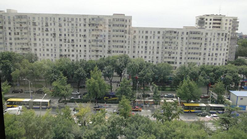 Transsibirische Eisenbahn: Peking - Blick aus dem Hotelfenster