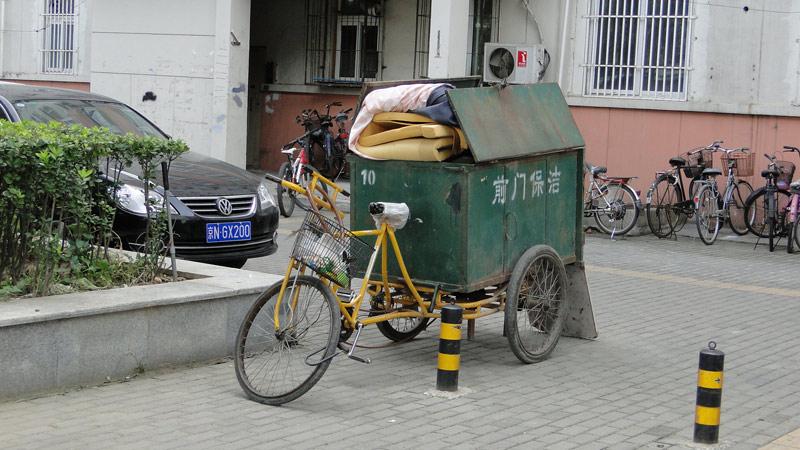 Transsibirische Eisenbahn: Peking - Dreiradtransporter