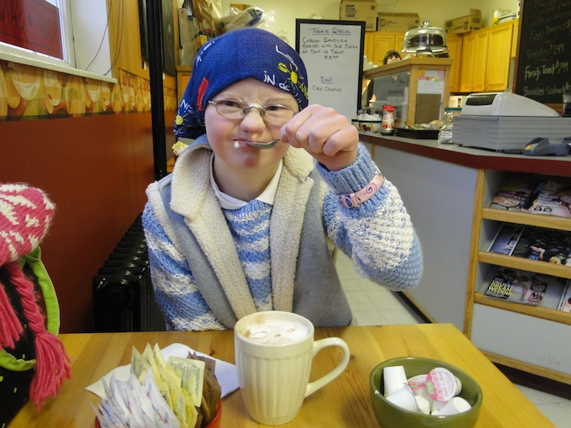 Fiona in Ritas Cafe - Prince George, British Columbia