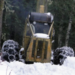 Granny AuPair meets a working skidder