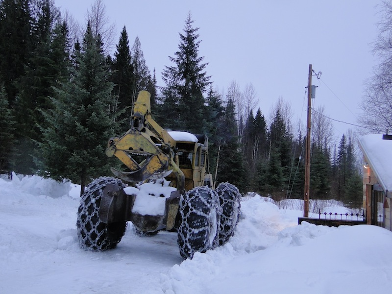 snow clearing Skidder