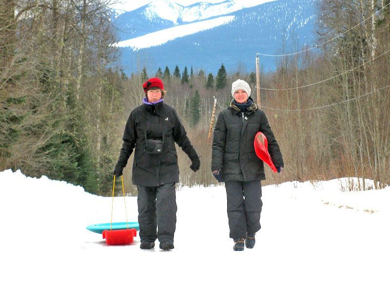 Winterspiele: Bobrennen Deutsche Frauenmannschaft (Granny Aupair Heidi & Rut)