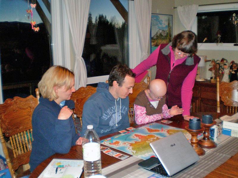 Canadische Winterspiele mit Rut, Dennis, Fiona und Heidi