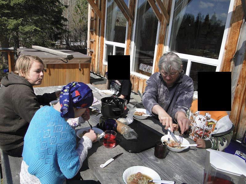 Lunchtime auf der Terrasse