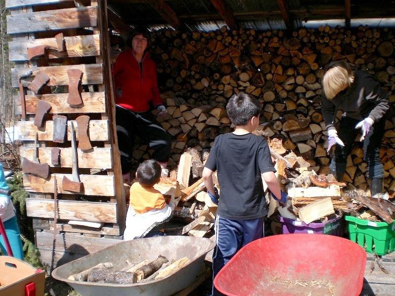 Holzstapel für den kommenden Winter