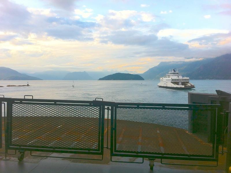 Überfahrt Nanaima auf V-Island Richtung Vancouver