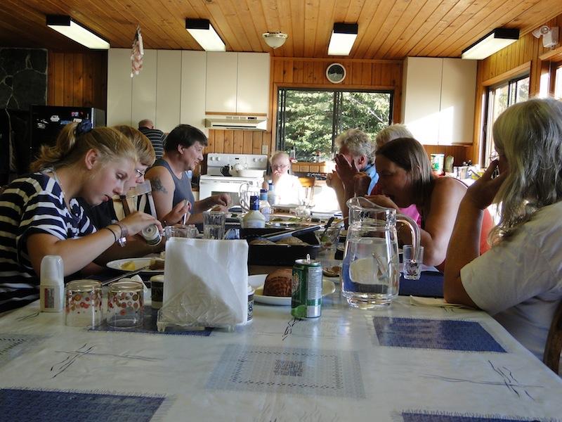 Küche im großen Ferienhaus