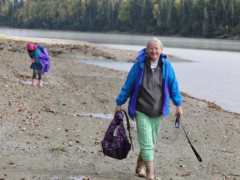 Spaziergang entland des Fraser River