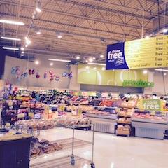 Frisches Obst und Gemüse, auch sehr teuer