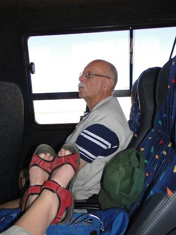 Die Busfahrten waren wegen der Hitze oftmals ermüdend