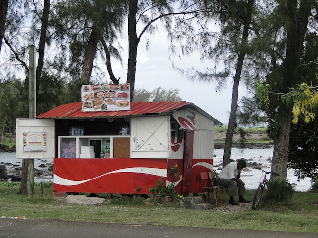 Milchbude auf Mauritius