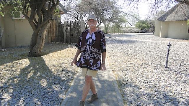 Dieters neues Safarihemd - es war zeitweise über 40° warm
