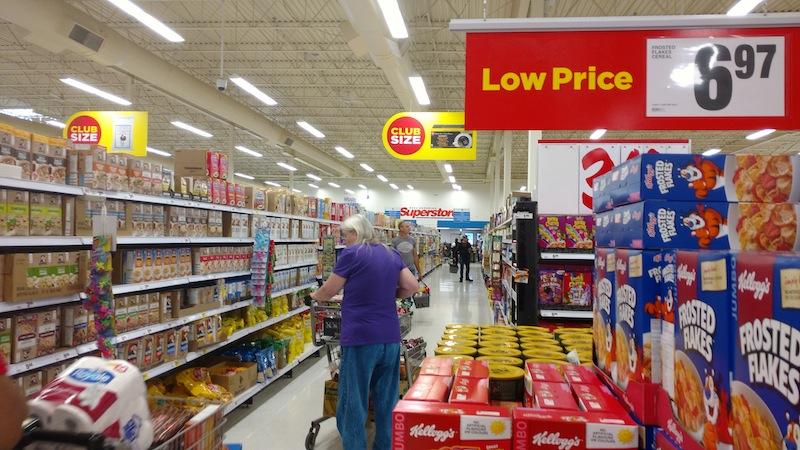 Der wöchentliche Einkauf im Superstore