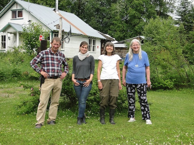 Besuch in Penny: Andreas, Meike, Angela und Gundula