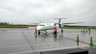 Propellerflugzeug WestJet