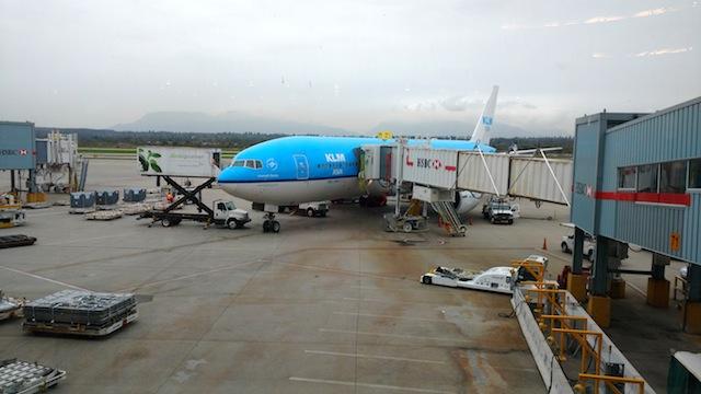 Mit KLM von Vancouver nach Amsterdam, dann mit einem Cityhooper nach Bremen