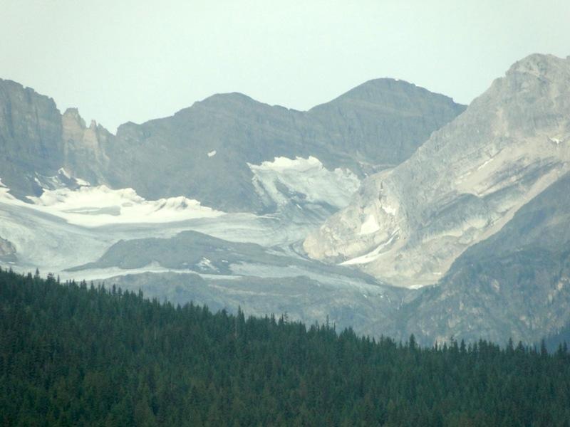 Die Reste eines Gletschers